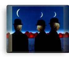 Heads In Sacks, Hearts On The Horizon Canvas Print