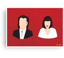 Flat Pulp Fiction  Canvas Print