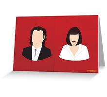 Flat Pulp Fiction  Greeting Card