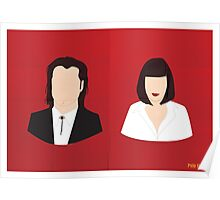 Flat Pulp Fiction  Poster