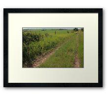 Prairie Roads Framed Print
