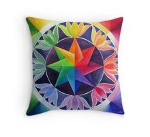 Colour wheel 2 Throw Pillow