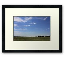 Mare's Tails Over the Prairie Framed Print