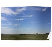 Mare's Tails Over the Prairie Poster