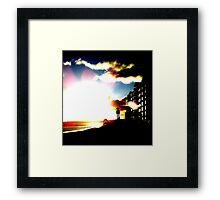 Sunflashflare ~ all is dark ~ who goes there? Framed Print