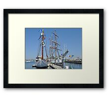 Tall Ships Times Two Framed Print