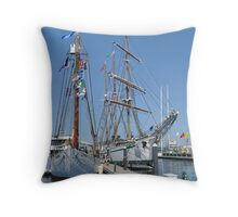 Tall Ships Times Two Throw Pillow