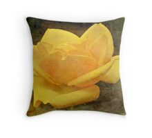Enigma Of The Yellow Rose #4 Throw Pillow