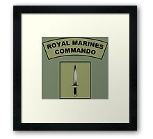 Royal Marines Commando Flash Framed Print