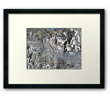 Ice. Framed Print