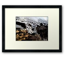 Melting Ice. Framed Print