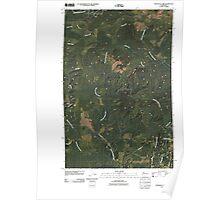 USGS Topo Map Washington State WA Railroad Camp 20110418 TM Poster