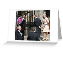 Prince Edward & Sophie arrive at Mike & Zara's wedding Greeting Card