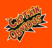 Captain Obvious! Kids Tee