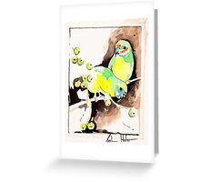 Fig Parrots Greeting Card