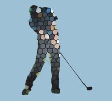 Tiger Woods Fragmented Glass T-Shirt Design  T-Shirt