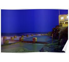 Coogee Pool at Night Poster