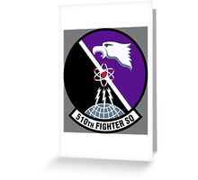 510th Fighter Squadron - US Air Force Greeting Card