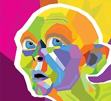 Gollum Pop Art by DpAlex