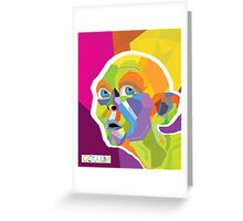 Gollum Pop Art Greeting Card