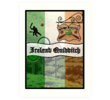 Ireland Quidditch Art Print