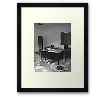 Abandoned Office Framed Print