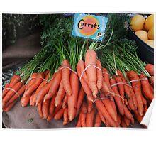 Fresh carrots...... Poster
