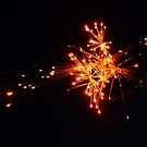 Some combustible materials exploding in the sky by agenttomcat