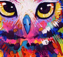 Owl - Black Background Sticker