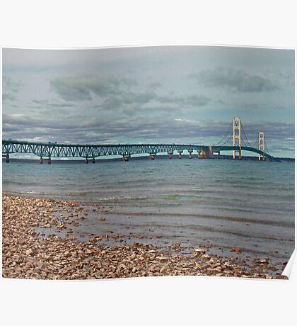 Mackinac Bridge HDR Poster