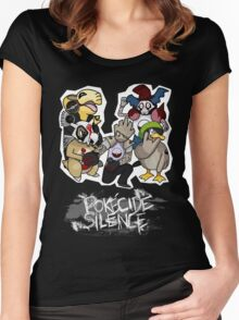 Pokecide Silence Women's Fitted Scoop T-Shirt