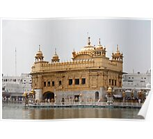 Darbar Sahib and Amrit Sarovar in the Golden Temple Poster