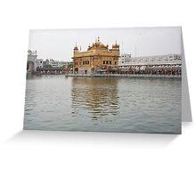Darbar Sahib and sarovar inside Golden Temple Greeting Card