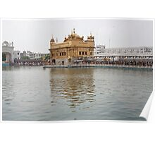 Darbar Sahib and sarovar inside Golden Temple Poster