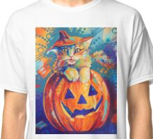 Pumpkin Cat Classic T-Shirt