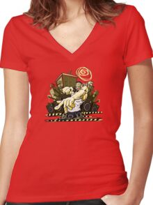 Are You Ready? Women's Fitted V-Neck T-Shirt