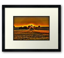 Sunset in the bavarian countryside Framed Print