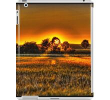 Sunset in the bavarian countryside iPad Case/Skin