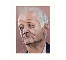 Bill Murray digital Portrait Art Print