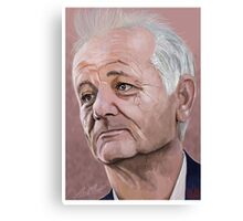 Bill Murray digital Portrait Canvas Print