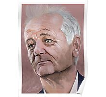 Bill Murray digital Portrait Poster