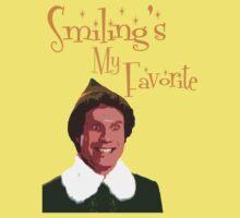 Buddy The Elf - Smiling's My Favorite Kids Tee