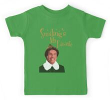 Buddy The Elf - Smiling's My Favorite Kids Tee