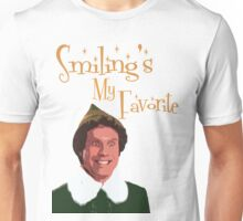 Buddy The Elf - Smiling's My Favorite Unisex T-Shirt