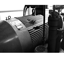 CNG Compressor Photographic Print