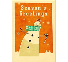 Snowman 1 Photographic Print
