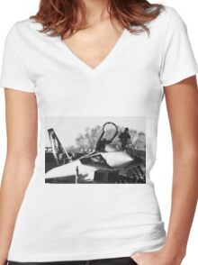 Typhoon preps  Women's Fitted V-Neck T-Shirt
