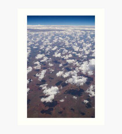 Territory Clouds Art Print