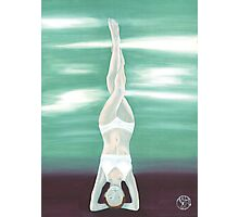 Yoga Headstand Photographic Print