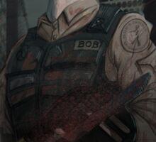 Bob the Zombie Exterminator Sticker